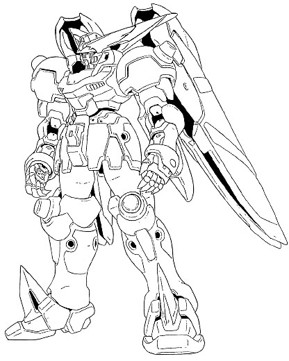gundam coloring pages - gundam wing free coloring pages
